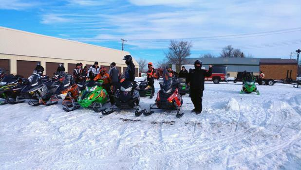 Getting ready to hit the trails at last years 51st Annual Sno Safari.