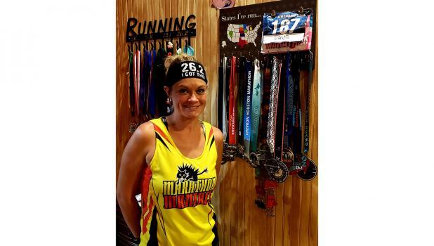 """Dana Fenske, Marathon Runner has competed in 14 different states including Minnesota, North Dakota, South Dakota, Nebraska, Kansas, Texas, Louisiana, Iowa, Wisconsin, Michigan, New Jersey, Rhode Island and Connecticut."