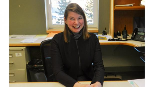 """New Clearwater County Attorney, Kathryn Lorsbach, says she is very excited to be here and grow with the office. """"I love the work. The public service we do here is most important."""""""