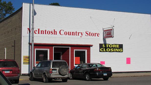 The McIntosh Country Store moved to the hardware store location, and re-branded as Hardware Hank in the summer of 2015. Friday, August 4th was a difficult day in the town as store patrons and community members watched the doors close on the hardware store.