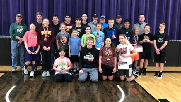 The participants in the Knights of Columbus Free Throw Contest held in Red Lake Falls. Photo submitted.