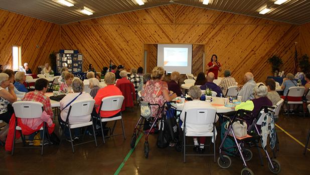 Many people attended the Elder Awareness Fair where there were multiple presenters, basket prizes, informational booths, BINGO, and free lunch.
