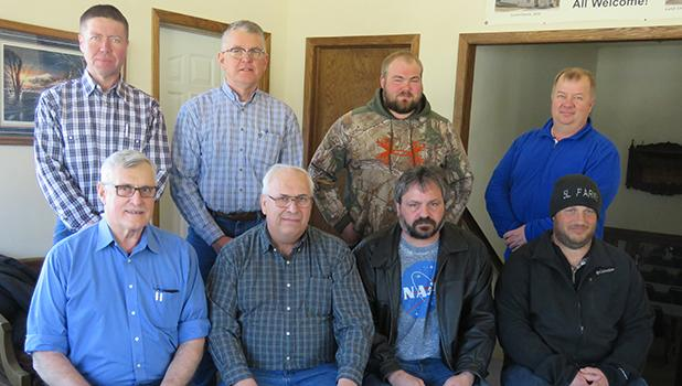 The Gully Tri-Coop Association Annual Meeting was well attended by their patrons, Saturday March 11th at the Gully Hall. Board of Directors include front row from left to right; Steve Hughes, General Manager Russ Crawford, Cory Carlson and Lon Vettleson. Back row: Dean Hanson, Paul Rydeen, Jared Hoeft and Corey Peterson.