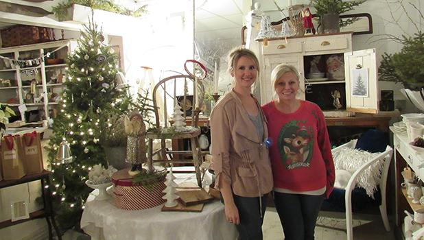 Andrea Stordahl and her friend, Katie Roed, during the Open House at Minnesota Rust last Saturday evening.