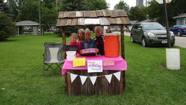The Brooks Princesses Lemonade & Muffin stand.