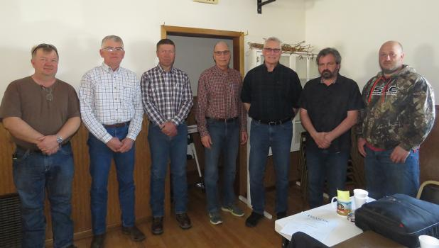 Gully Tri-Coop Association Board of Directors from left to right: Corey Petterson, Paul Rydeen, Vice President, Dean Hanson, President, Jim Gunvalson, Steve Hughes, Secretary & Treasurer, Cory Carlson and Lon Vettleson.