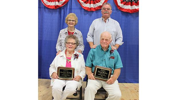 Outstanding Senior Citizens for Clearwater County were named at the fair. Marilyn and Darol Melby were chosen for this honor for 2016.  With them are committee Co-Chairperson Dee Strandlien and Al Paulson.
