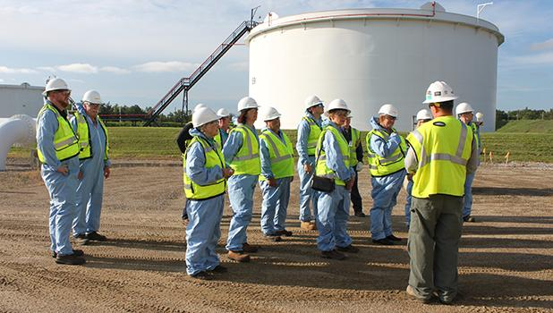 Commissioners from Red Lake, Polk and Hubbard Counties and other interested persons were given a guided tour of the Enbridge pump station at Clearbrook. They were able to see how Enbridge pipeline system serves as a vital link to stable and reliable North American crude oil supplies for Minnesota and the surrounding region.