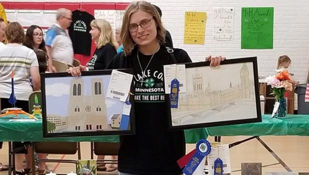 Kendra Rondorf- Grand Champion in Food and Nutrition, Fine Arts, Performing Arts; Reserve Champion in Food and Nutrition, Arts and Crafts, Photography, and Needle Arts.