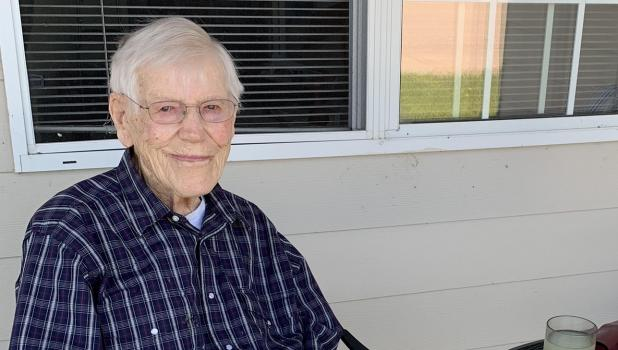 Lifelong McIntosh community member, Lloyd Schleicher will turn 100 years old on July 15th.