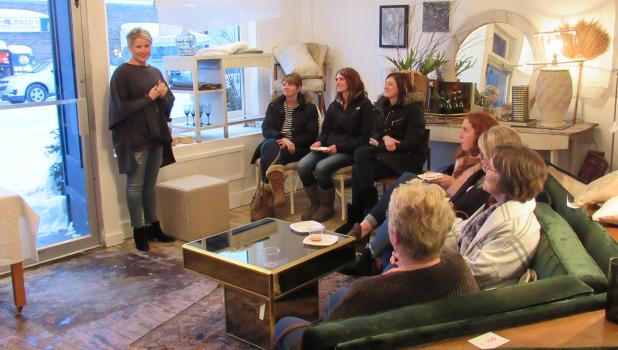 Minnesota Rust owner, Andrea Stordahl recently hosted a Win-E-Mac Community Education event at her store talking about how to mix old and new items to create your own personal decor in your home.