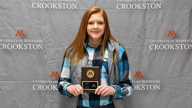 Congratulations to Naomi Shamp! She earned 2nd place individual at the University of Minnesota Crookston General Livestock Judging competition. She is the daughter of Marilyn and Tim Shamp of Clearbrook. She attends Clearbrook-Gonvick High School.  -Photo courtesy University of Minnesota Crookston.