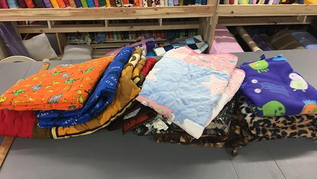 Twenty-one quilts were finished at Project Linus Day at Oklee Quilting.