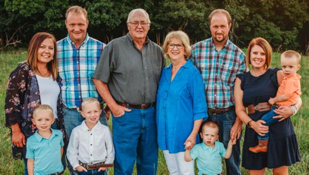 The Nordlund family of Clearbrook; Mike & Ashley Nordlund and their two boys, Kelly & Linda Nordlund, Sam & Kendall Nordlund and their two boys. Besides cattle, they also grow their own feed, along with cash crops of alfalfa hay, wheat, soybeans and corn.