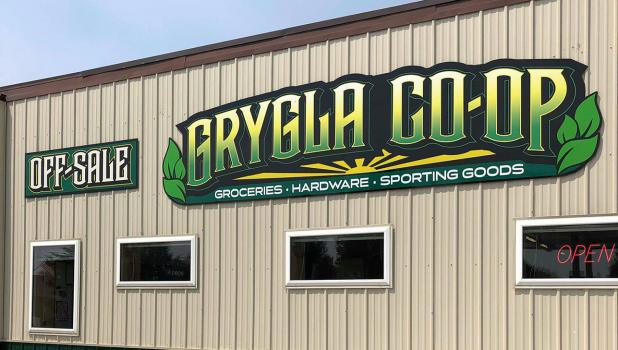 Grygla Co-op offers groceries, hardware, sport goods and off-sale.