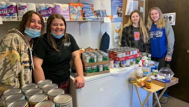 The Grygla School Student Council held a food drive recently and collected 560 pounds that they donated entirely to the Grygla/Gatzke Food Shelf! Photo courtesy of Joni Anderson