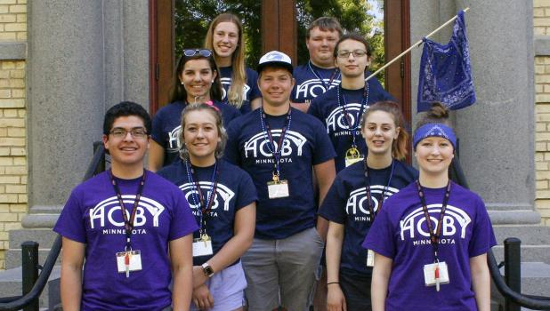 Levi Kiesow, center, attended HOBY at St. Cloud State University. Photo courtesy of Kristin Farris