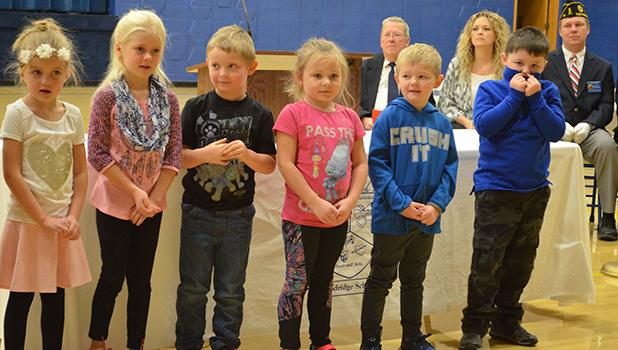 Goodridge Kindergarten class performed at the Veterans Day program.