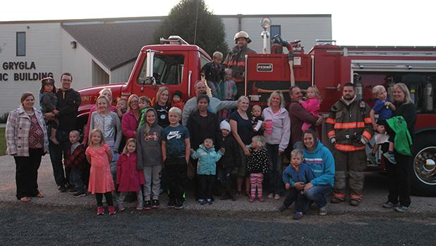 Grygla School ECFE received a visit from the Grygla Fire Department.