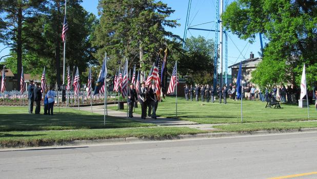 A short service was held at the Winger Veteran's Memorial Park on Monday, May 31st in honor of Memorial Day by the American Legion Fengestad-Solie Poast 200. Attendees then gathered at the Winger Community Center for coffee and fellowship.