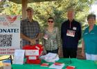 Representing the Second Chance For Life Foundation from Minneapolis pictured are Scott And Susan Stevens and Jim Berg, Laura Lovdahl is from LifeSource. All funds raised from the 5k are donated to The Second Chance For Life. We were honored to have them come to Oklee.
