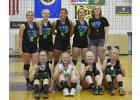 Pictured front row: Kylie Brekke, Kendra Thompson, Kylie Stuhaug, and Kail Olson, back row: Sydney Tadman, Mariah McKeever, Tyra Wilson, Savannah Nelson and Coach Shelby Kaster