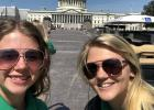 Sidney Olson and Tanisha Srnsky in front of the Capitol in Washington D.C.