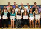 Win-E-Mac held the Annual Academic, Athletic and Fine Arts Banquet and Awards Program on Wednesday, May 6, 2015. Pictured are WEM Seniors who were awarded scholarships.