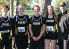 Pictured: Clearbrook-Gonvick Section 8A Runners. John DeVires, Jayden Bergerson, Jack McQuown, Julie Lavin and Coach Lavin. - Submitted photo.