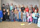 RLCC 5th-8th graders who attended Young Authors Conference on March 10th at Thief River Falls: (Front) Zachary Cater, MiReya Gibbs, Leah Peterson, Taya Morinville, Erin Sundquist, Jed Duden, Caleb Nymann, Molly Smith, Shawna Majeres, Marin Peterson, (Back) Jayden Iverson, Garrett Qualley, Brandie DeHate, Jeremy Kruchowski, Morgan Plante, Faith Hanson, Heather Longtin, Natalia Snegireff, Sidney Olson.