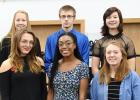New inductees into RLCC's Honor Society are (back) Calyssa Eskeli, Andrew Fish, Jayden Iverson, (front) Lilly Guillemette, Adrianne Jones, and Sophia Linder.