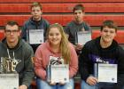 Trap team members who received Spotlight on Scholarship certificates were: (Back) Jed Duden, Gunnar Sandeen, (Front) Tristyn Ferguson, Sarah Christensen, and Gunnar Thompson. Not Pictured: Adam Cater, Damon Ferguson and Kaleb Fougner.