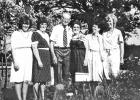 Walter and Ellen's family: Cindy, Dianne, Walter, Ellen, Pam, and Linda -- 1985.