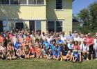 The descendents of Olof Enerson and their family members who attended the reunion held on August 3rd at the family farm north of McIntosh.