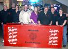 Members of the McIntosh Fire & Rescue Squad celebrated during the 125th Annual Fireman's Ball at The Club Bar & Grill on Saturday, April 11th.
