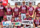 Photo submitted, names are in no particular order and not all are pictured. Members of the 2018 Cadet World Series Champions Fosston Maroon: Aaron Norland, Cullen Norland, Markus Olson, Luke Sannes, Trevor Vig, Maverick Anderson, Brodie Sather, Will Christen, Ryne Duppong, Brecken Lavin, Justin Propst, Tanner Vig. Coach Austin Schmidt.