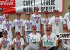 (Not all members are pictured and names are in no particular order.) Members of 2015 Cadet World Series Champions Fosston White:  Noah Mahlen, Oliver Deusterman, Josh Manecke, Warren Nelson, Jacob Gutterud, Ethan Klisch, Gunner Nelson, Zach Theis, Carson Boushee, Lance Balstad, Trent Balstad, Coaches Kory Jacobson, Bryant Schmidt.