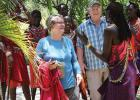 Sara and Dr. Glenn Madsen in Bomet, Kenya, Africa on a Medical Mission trip. The Madsen's are former Gonvick residents and on August 17th they will be sharing their African experiences at the Samhold Lutheran Church in Gonvick at 2:30 in the afternoon.