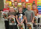 Mrs. Shulz's 1st grade class in Grygla received trick-or-treat bags from Garden Valley in October.