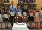 New inductees are Mary (Charolette) Catahan, Grace Spry, Brekken Lindberg, Joesph Parenteau, Jordin Gunderson, Aries Qualey, Tapanga Bratager, Lily Breckel.