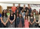 Twenty-one of Mrs. Patty Mickelson's music students who had competed at vocal or instrumental contests during this school year gave a special performance at RLCC's Music Night: (Front) Jayden Iverson, Leilah VanDam, Izzy Plante, Lilly Hanson, Emily Kolstoe, (Row 2)) Noah Hanson, George Duden, Taya Morinville, AJ Jones, Bella Russillo, Katelyn Suchy, Phillip Sorenson, Karena Melby, Janae Olson, (Row 3) Adriel Bakken, Marie Johnson, Thomas Benson, (Back) Brody Moen, Brock Tvedt, Sidney Olson, and Abby Walton.