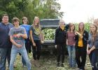 Clearbrook-Gonvick agriculture students offered their services to bring fresh-grown produce to the lunchroom at Clearbrook-Gonvick school. Andrew Jourdain, Maccabee Hammer, Jacey Tronnes, Kari Shamp, Alexie Molden, Makenzie Allen, Sierra Walters, Brianna Straabe, Allie Bjerke.