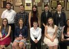 RLCC Vocal Solo Contest competitors: (Front) Kara Longtin, Sidney Olson, David Clifton, Allison Aakhus, and Adrianne Jones. (Back) Phillip Sorenson, Nick Pahlen, Sydney Melby, Jayden Iverson, and Abby Walton.