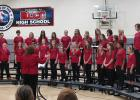 The Red Lake Central County Junior High Choir sang a variety of songs at the fall concert held on November 23rd.