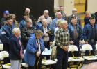 Some of the veterans who attended the heartwarming tribute to area veterans during Veteran's Day activities at the Clearbrook-Gonvick School.