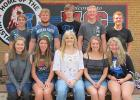Red Lake County Central King and Queen candidates: (back) Noah Bakken, Seth Paradis, Gunner Anderson, Ethan Vettleson, and Matt Vettleson, (front) Jayden Fore, Sydney Melby, Linsey Thompson, Katie Olson, and Hannah Kolstoe.