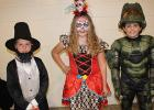 Carver Kroulik, Isabelle Torgerson and Dalton Walker winners of the costume judging at the Gonvick Lions Halloween Party in the 9 to 12 age group.