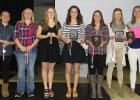 Clearbrook-Gonvick basketball team received awards at the Athletic Banquet that was held on March 22. From left to right: Cassie Faldet, Carlie Bergerson, Alison Johnson, Liz Bodensteiner, Rachel Spray, Brynn Hetland and Madison Stenzel.