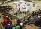 Snow and wind did not stop a big crowd from coming out to watch the 2020 Greater Midwest Livestock Auctioneer Championship held at the Bagley Livestock Exchange, Inc. on Saturday, January 18th. -Photos by Richards