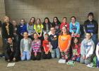 These students from RLCC attended the Young Author's Conference: (Front) David May, Sydney Fougner, Kya Morinville, Ethan Majeres, Nick Whalen, Ciara Mitzner, Payton Lancto, Aaron Benoit, and Maddie Nelson. (Back) Thomas Benson, Bailey Sherman, Natalie Vettleson, Payton Rystad, Aurora Mitzner, Aurimy Olson, Maddie Inda-Valdez, Shyla Styles, Isabelle Morinville, Bryn Vettleson, and Noah Hanson.